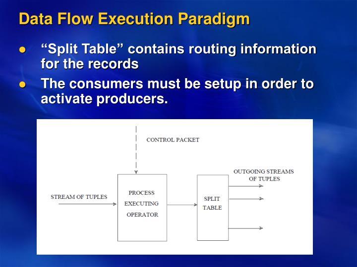 Data Flow Execution Paradigm