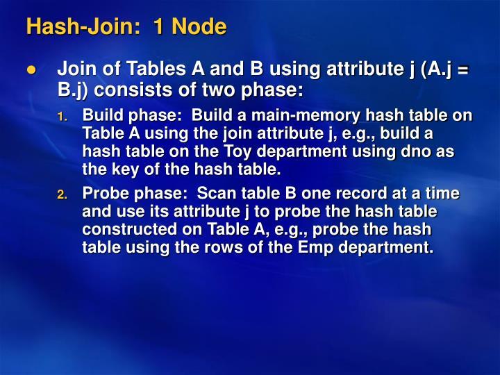Hash-Join:  1 Node