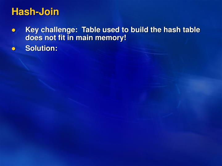 Hash-Join
