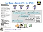 how does a scientist use the sras