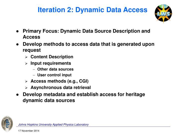 Iteration 2: Dynamic Data Access