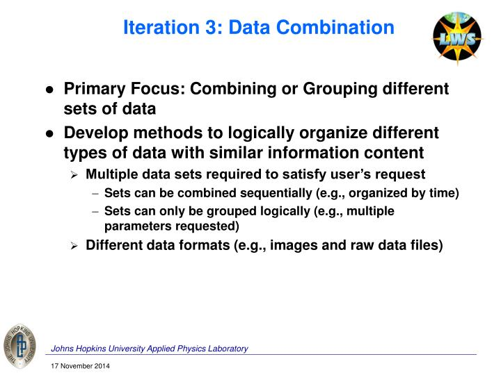 Iteration 3: Data Combination