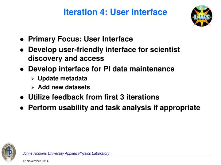 Iteration 4: User Interface