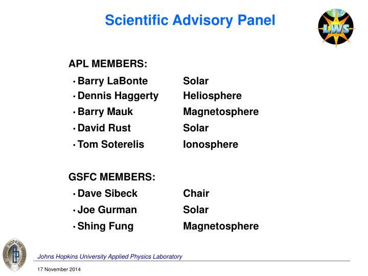 Scientific Advisory Panel