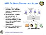 sras facilitates discovery and access