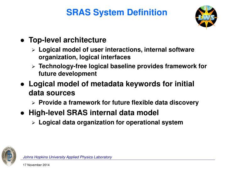 SRAS System Definition