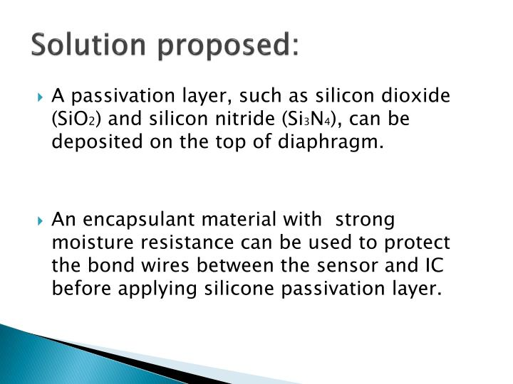 Solution proposed: