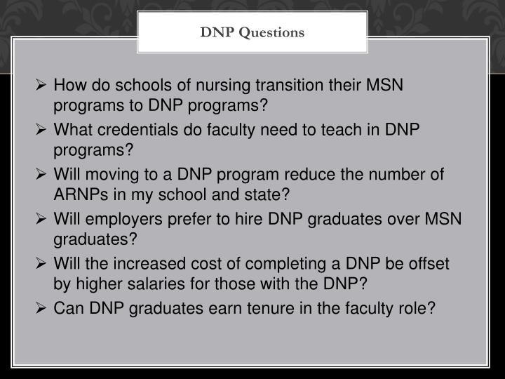 DNP Questions
