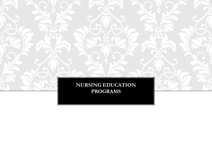Nursing Education Programs