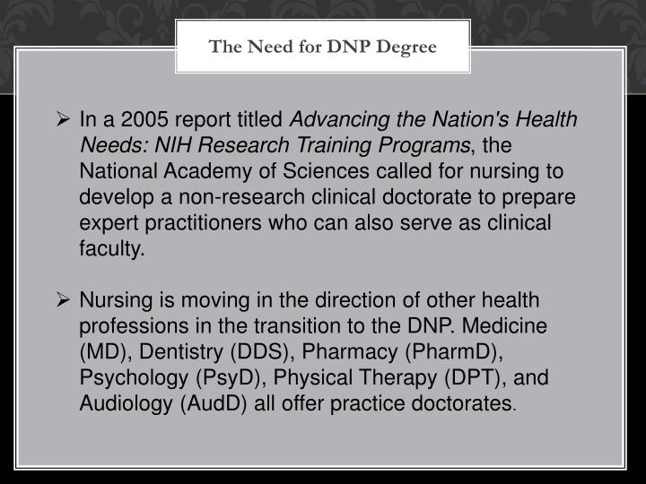 The Need for DNP Degree