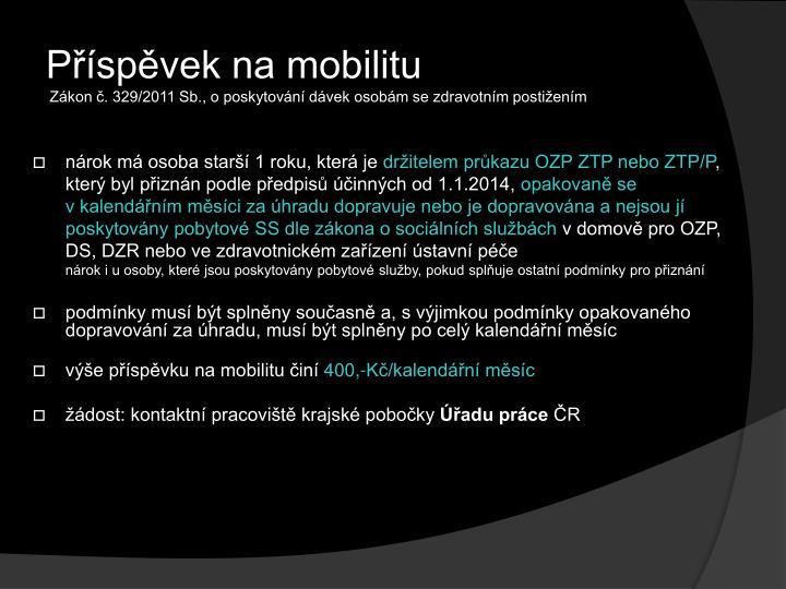 Příspěvek na mobilitu