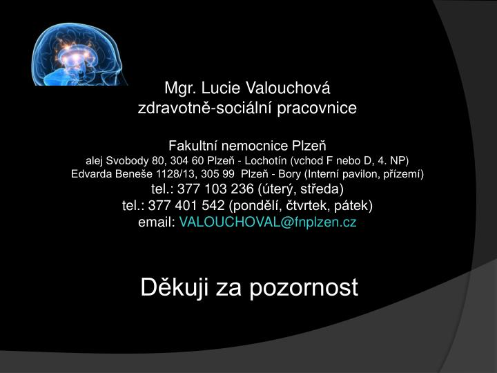 Mgr. Lucie Valouchová