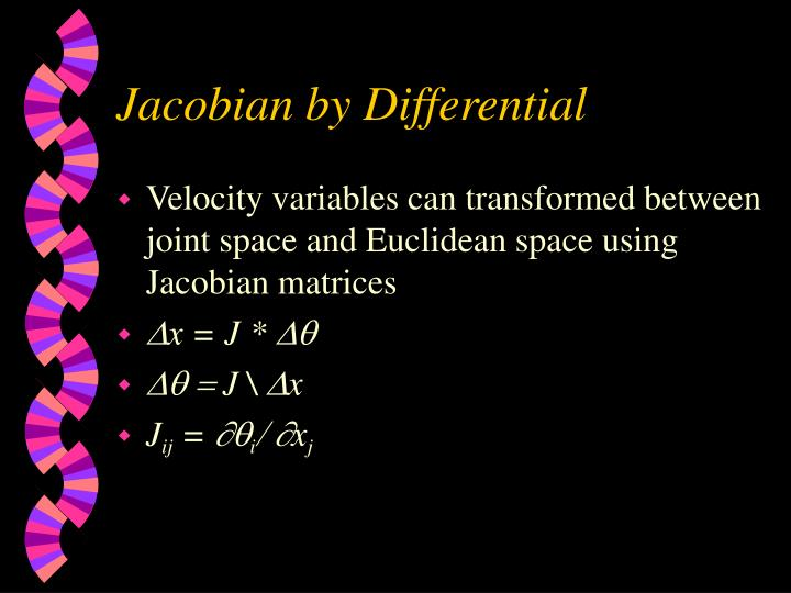 Jacobian by Differential
