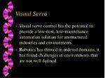 visual servo