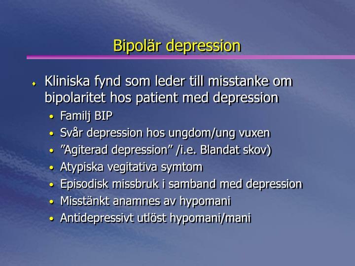 Bipolär depression