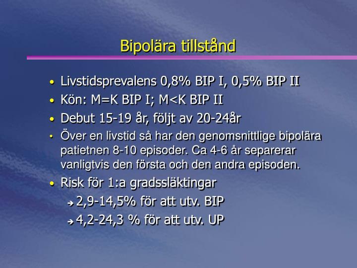 Bipolära tillstånd