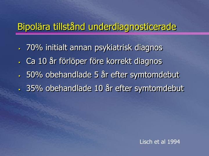 Bipolära tillstånd underdiagnosticerade