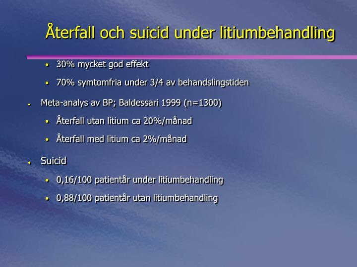 Återfall och suicid under litiumbehandling
