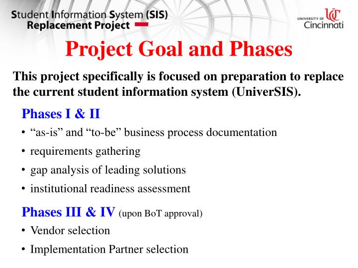 Project Goal and Phases