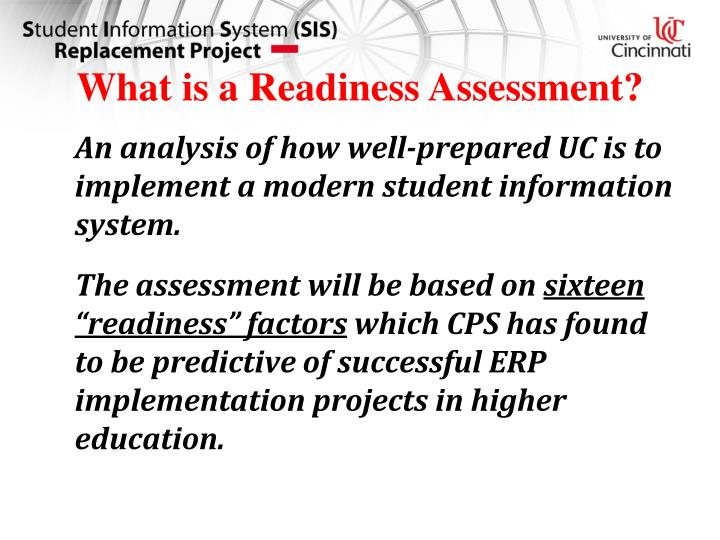 What is a Readiness Assessment?