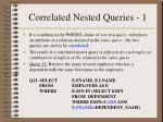 correlated nested queries 1