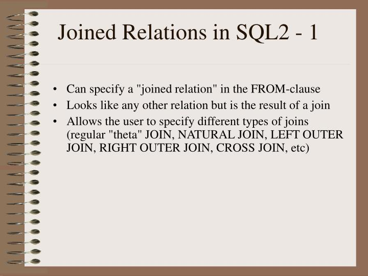 Joined Relations in SQL2 - 1