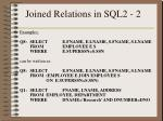 joined relations in sql2 2
