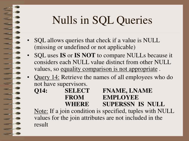 Nulls in SQL Queries
