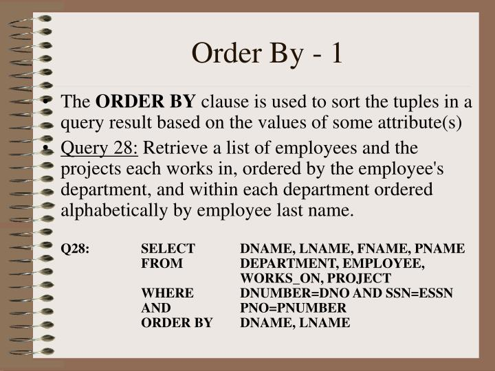Order By - 1