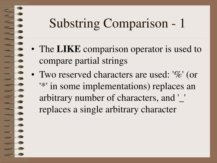 Substring Comparison - 1