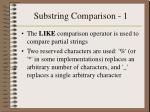 substring comparison 1
