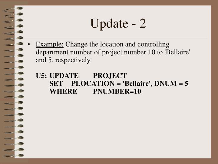 Update - 2