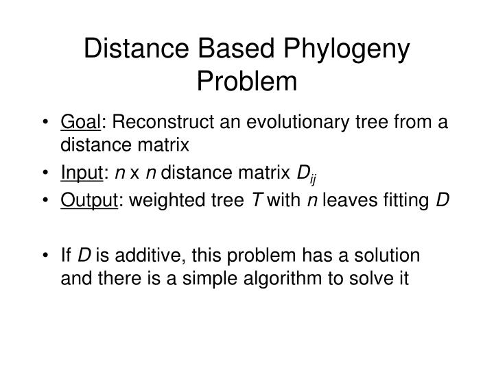 Distance Based Phylogeny Problem