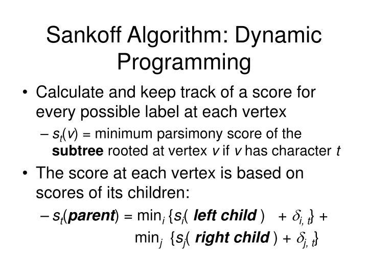 Sankoff Algorithm: Dynamic Programming