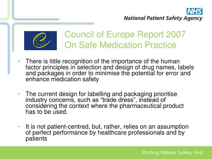 Council of Europe Report 2007