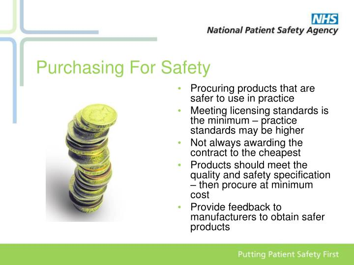 Procuring products that are safer to use in practice