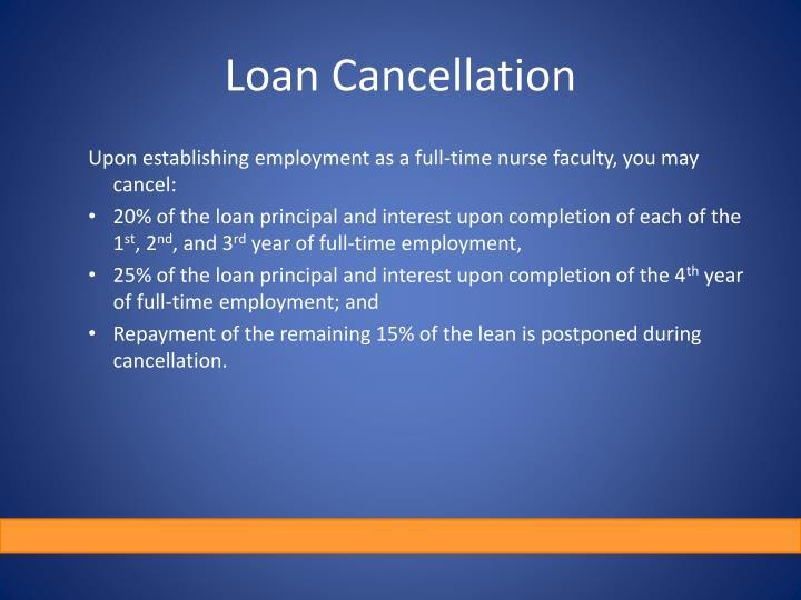 Loan Cancellation