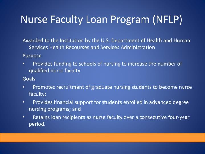 Nurse Faculty Loan Program (NFLP)