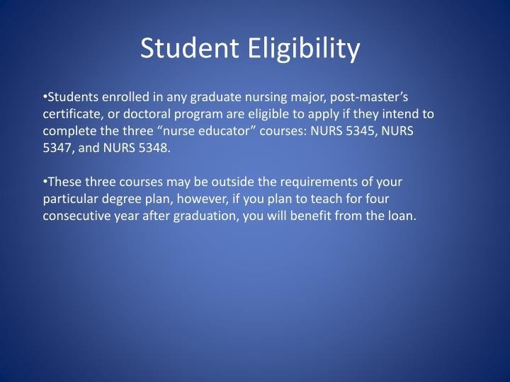 Student Eligibility