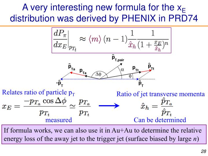 A very interesting new formula for the x