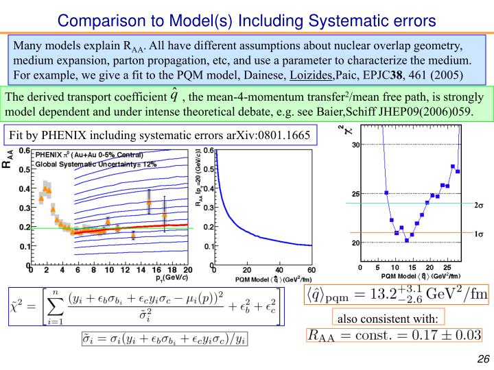 Comparison to Model(s) Including Systematic errors