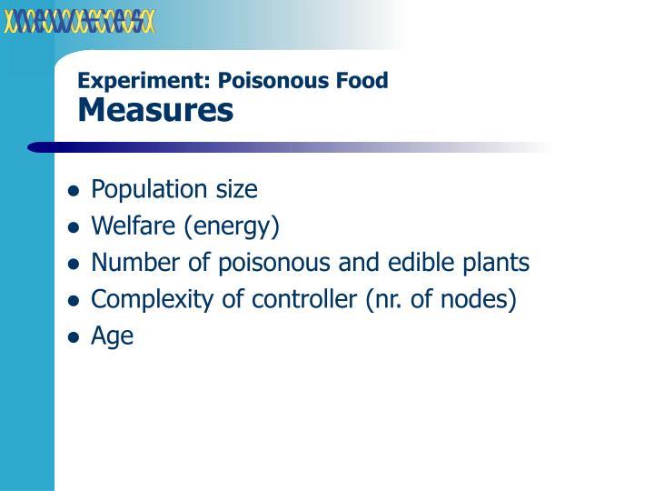 Experiment: Poisonous Food