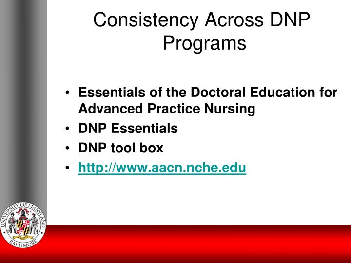 Consistency Across DNP