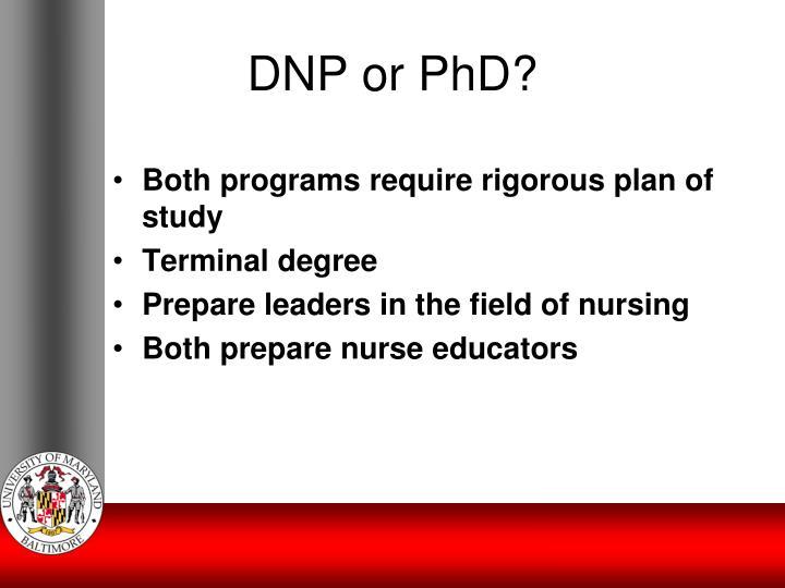 DNP or PhD?