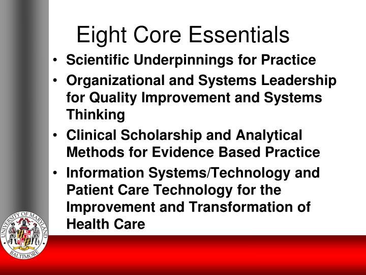 Eight Core Essentials