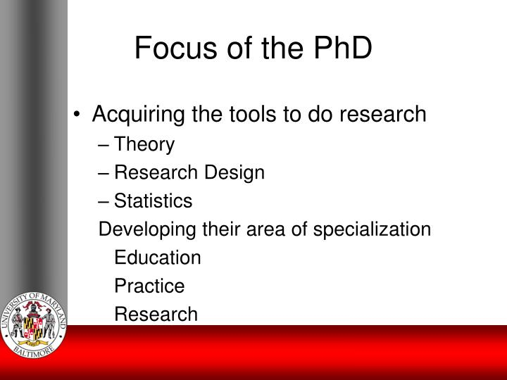 Focus of the PhD