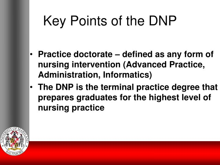 Key Points of the DNP