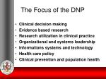 the focus of the dnp