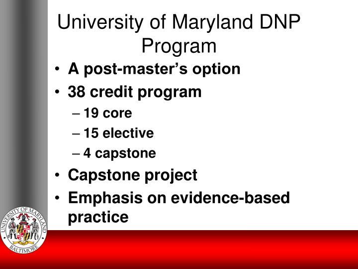 University of Maryland DNP Program