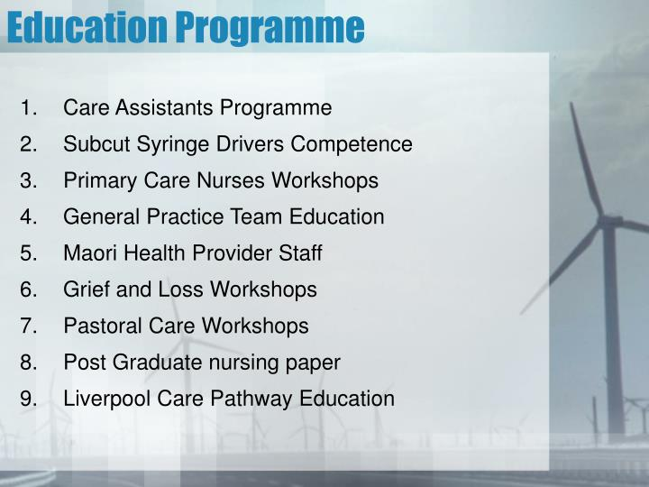 Education Programme